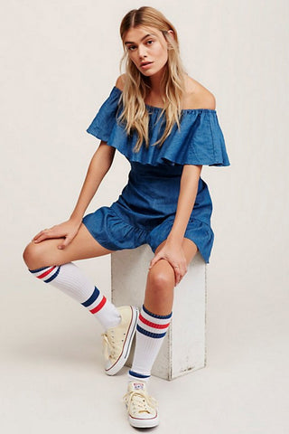 shakuhachi - GENIE OFF THE SHOULDER FRILL PLAYSUIT - 1