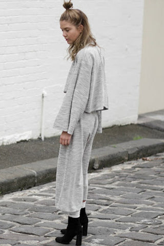 TERRY DROP CROTCH PANT GREY - Shakuhachi - 2
