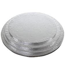Round Silver Cake Drums 12mm thick Various Sizes Available