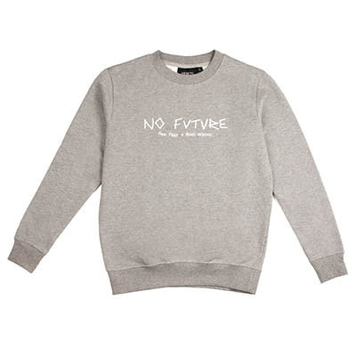 No Future Embroidered Sweatshirt