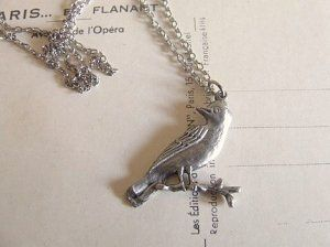 silver songbird necklace