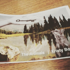 the animals accordian zine | Kristy Bowen