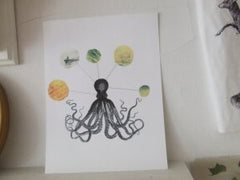 shipreck series collage print: octopus