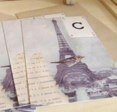 postcards / set of 5 / eiffel tower