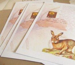 postcards / set of 5 / rabbit