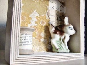 deer shadowbox / assemblage