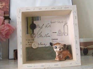 deer no. 2 shadowbox / assemblage