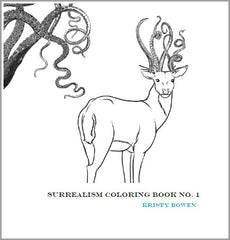 Surrealism Coloring Book No. 1 | Kristy Bowen