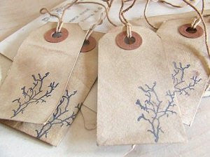 shabby gift tags: branch