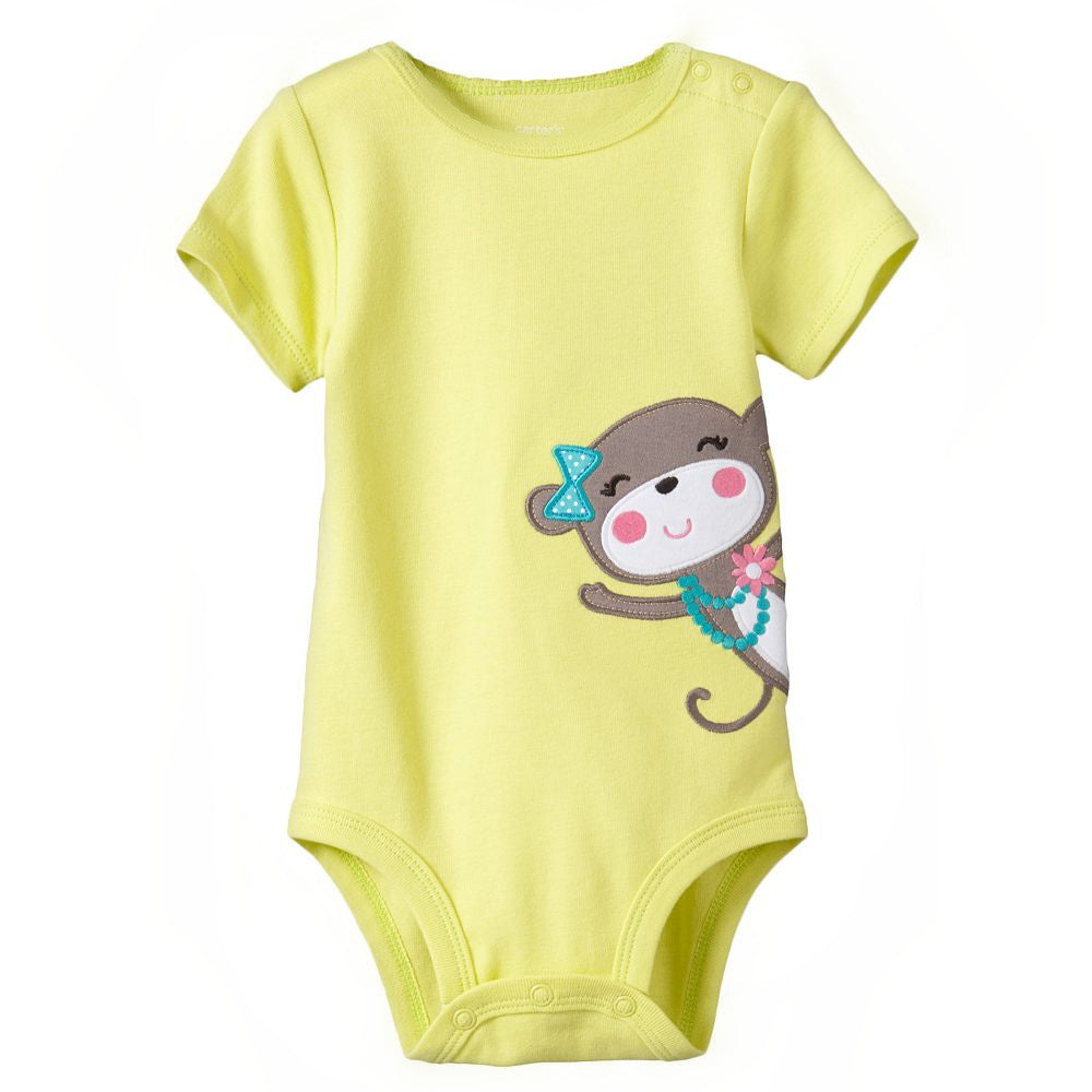 (AF-004) Rompers - Monkey / Yellow