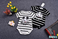 (BM02W) Family Tee - Mickey Stripe White