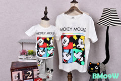 (BM09W) Family Tee - Mickey White