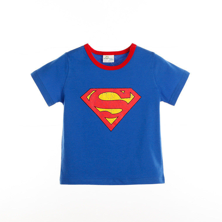 (BS02) T-shirt - Superman Sleeve (Blue)