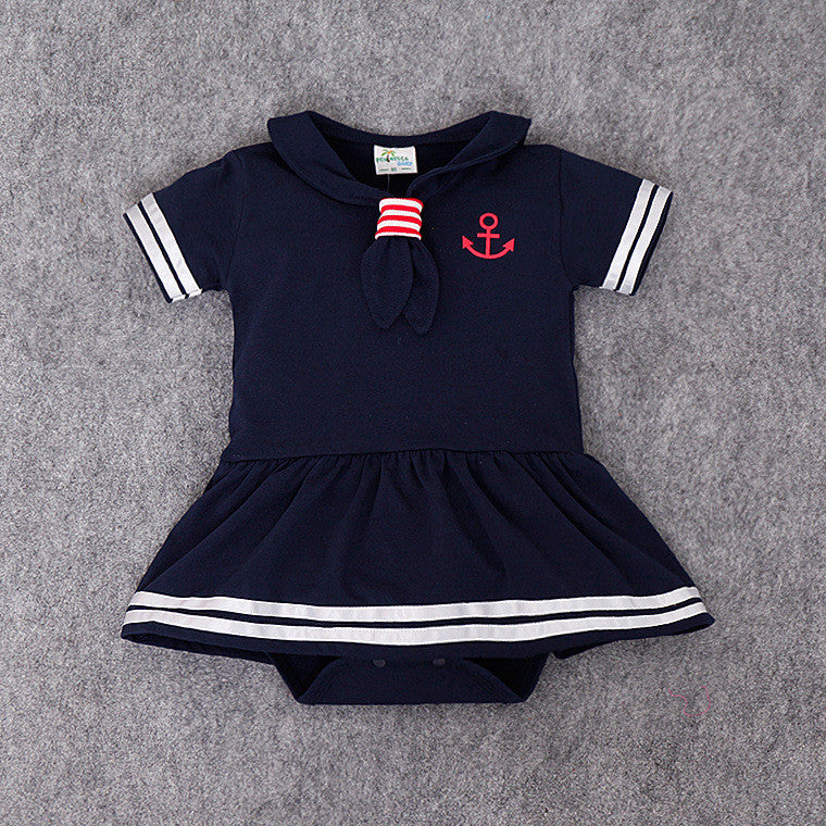 (CA26BG) Romper Sailer - Blue Girl