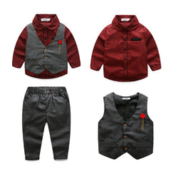 (CE103R) Set - Black Vest Red