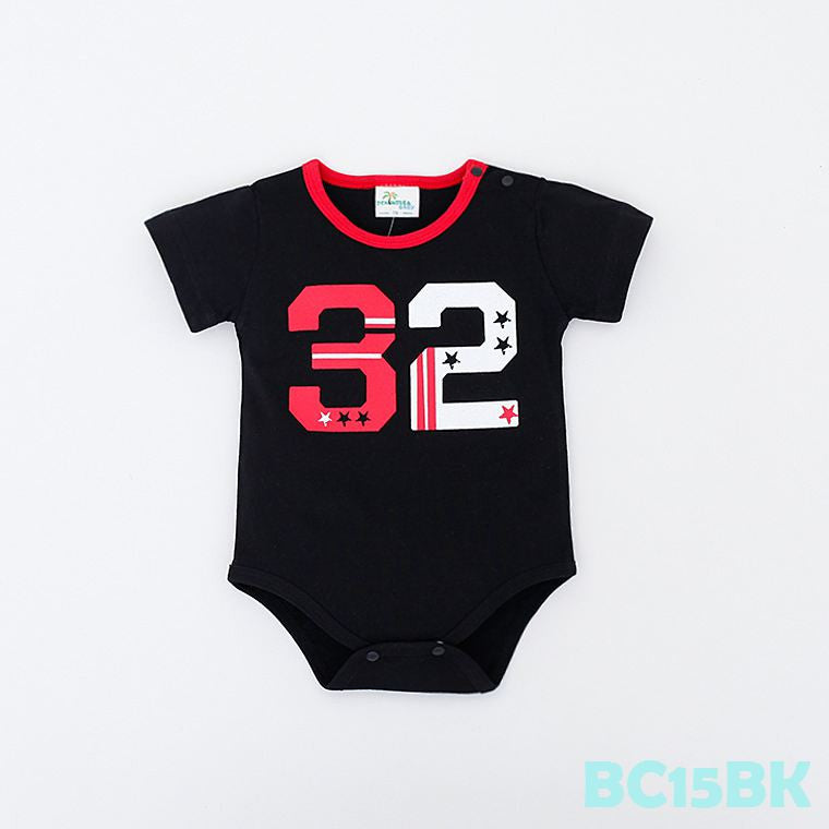 (BC15BK) Romper - Thirty-Two 32 Black