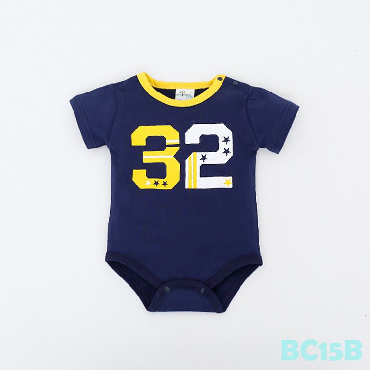 (BC15B) Romper - Thirty-Two 32 Blue