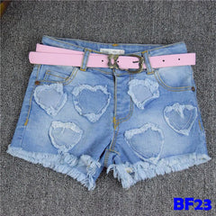 (BF23) Jeans - Love with Pink Belt