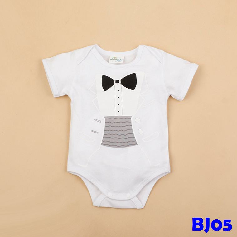 (BJ05) Romper - Gentleman White