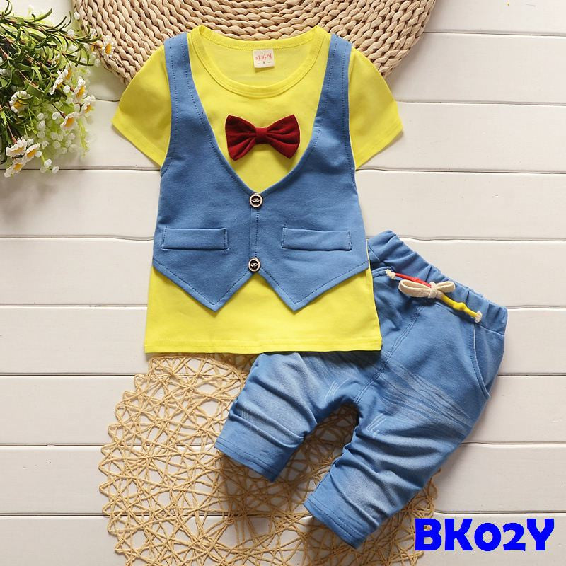 (BK02Y) Set - Vest and Bowtie Yellow