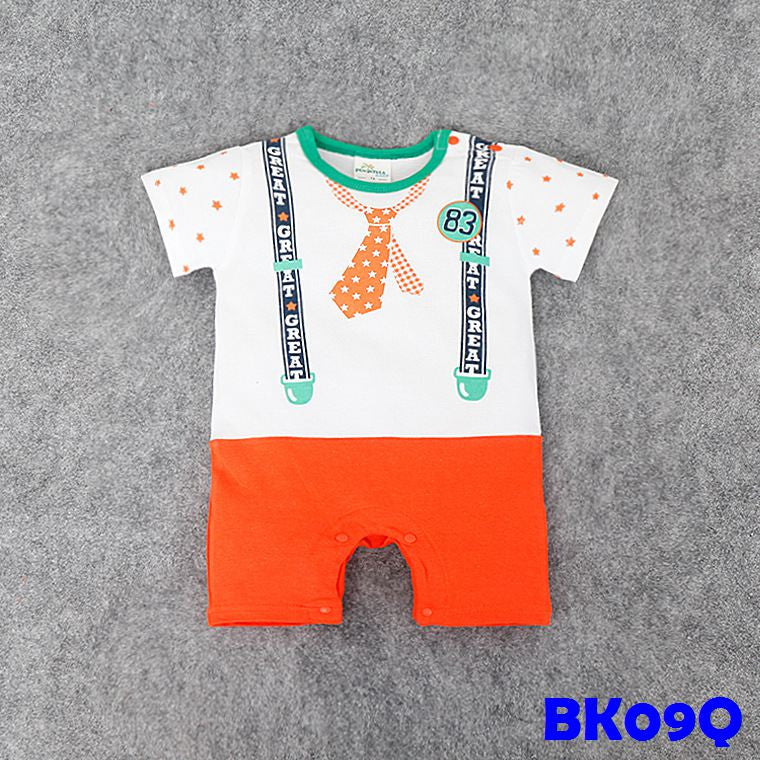 (BK09Q) Romper - Tie Orange