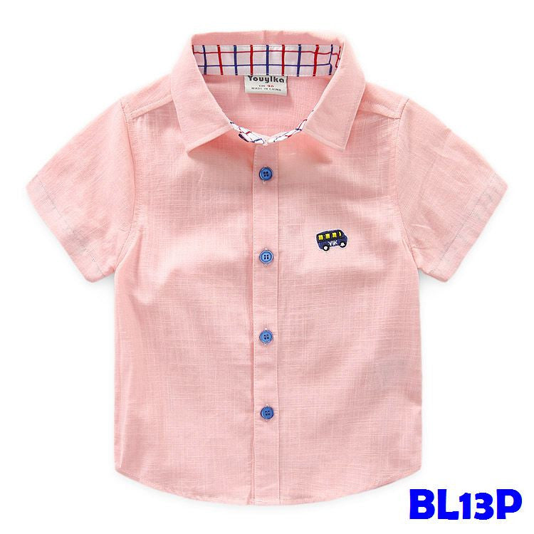 (BL13P) Shirt Short Sleeve - Car (Pink)