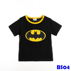 (BS04) T-shirt - Batman Sleeve (Black)