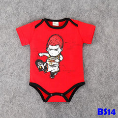(BS14) Romper - Basketball Red