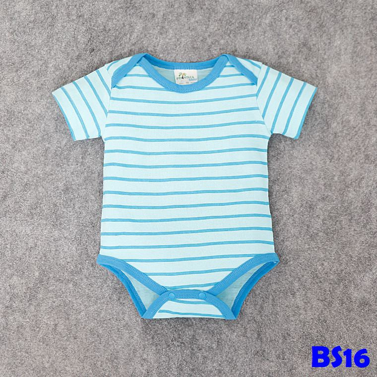 (BS16) Romper - Blue Stripes