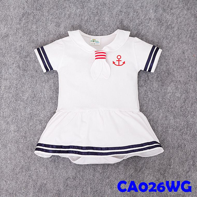 (CA26WG) Romper Sailer - White Girl