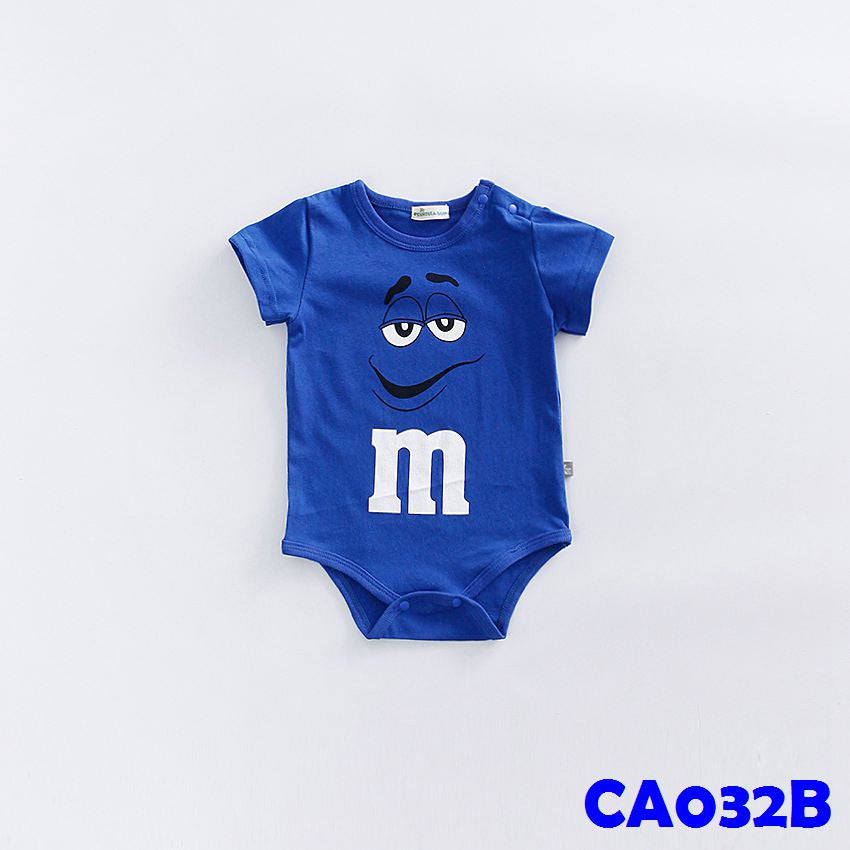 (CA032B) Rompers - m&m Blue