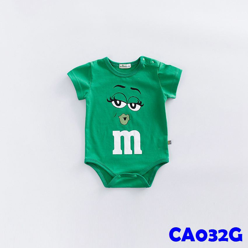 (CA032G) Rompers - m&m Green