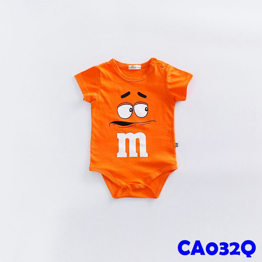 (CA032Q) Rompers - m&m Orange