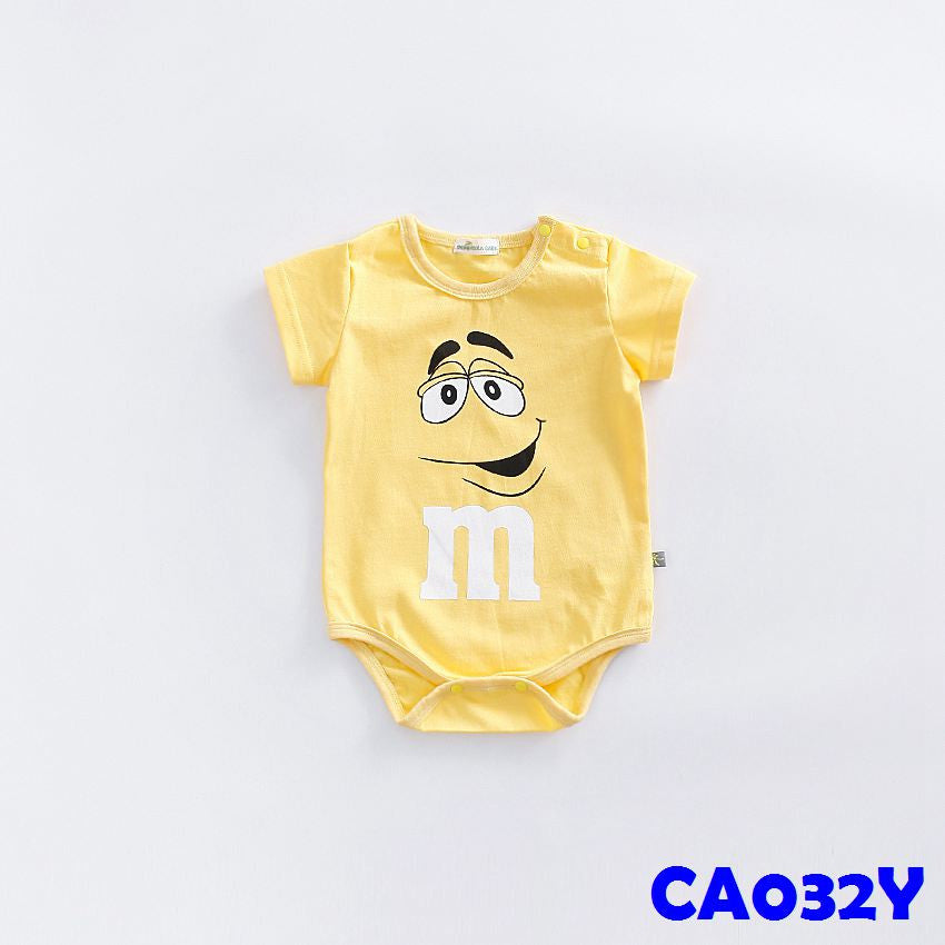 (CA032Y) Rompers - m&m Yellow