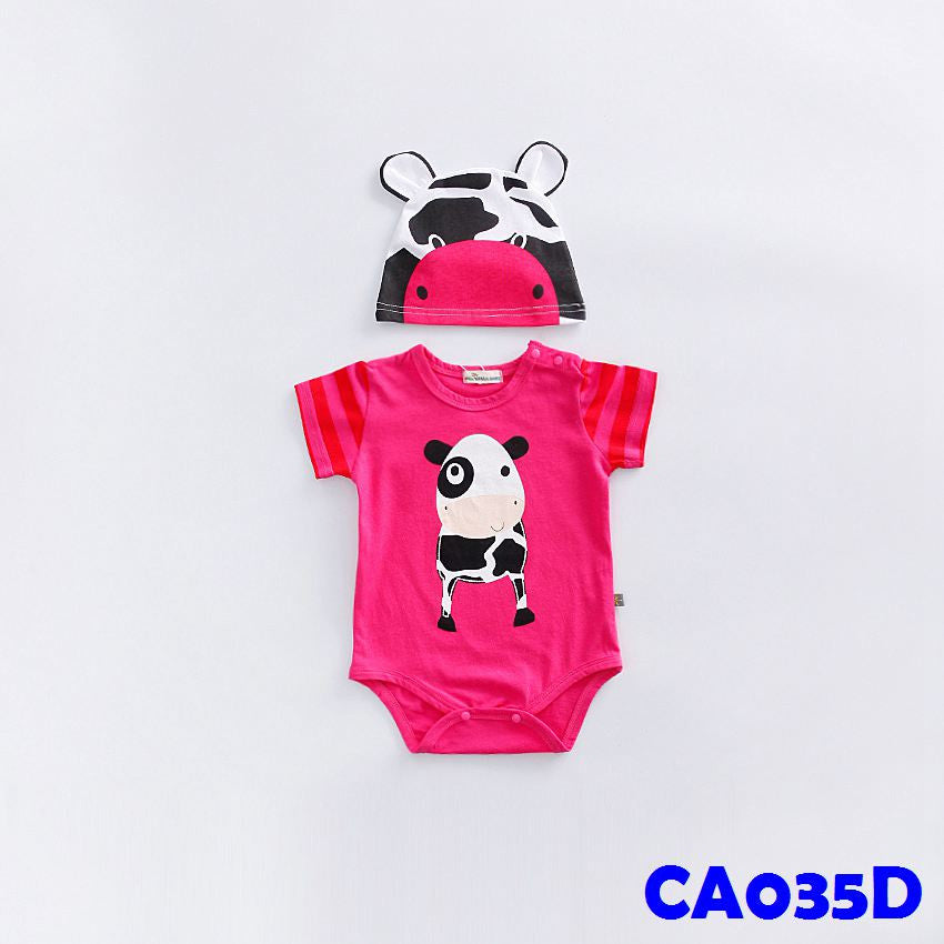 (CA035D) Rompers - Cow