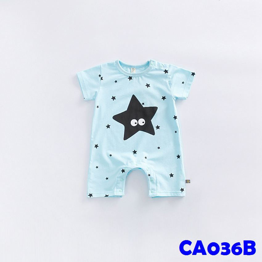 (CA036B) Rompers - Star Blue