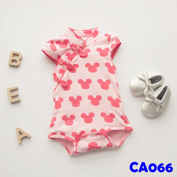 (CA066) Romper - Cheongsam with Mickey