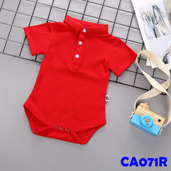 (CA071R) Romper - Red