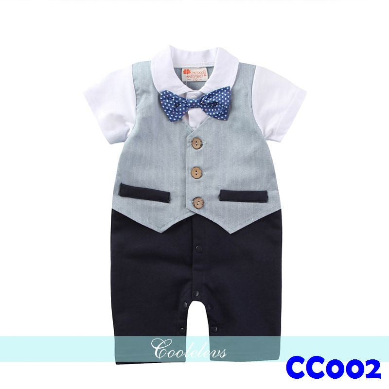 (CC002) Gentleman Romper - Grey