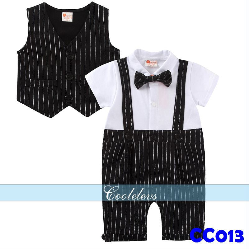 Gentleman Romper with Vest
