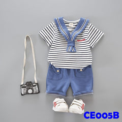 (CE005B) Set - Stripes Blue