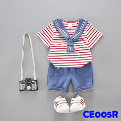 (CE005R) Set - Stripes Red