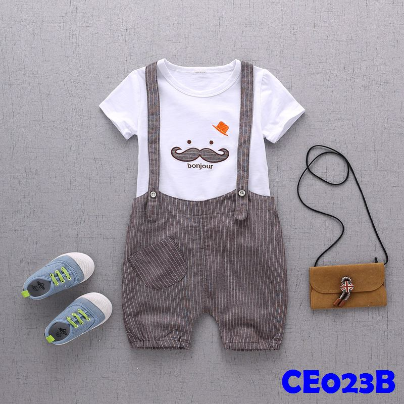 (CE023B) Set - Moustache Brown