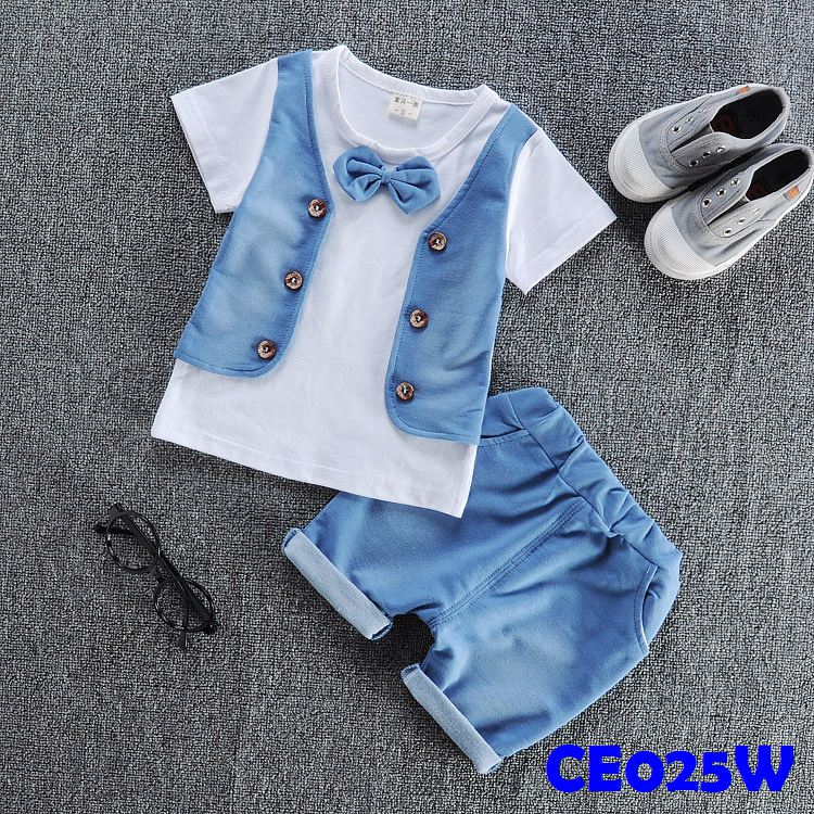 (CE025W) Set- Vest White