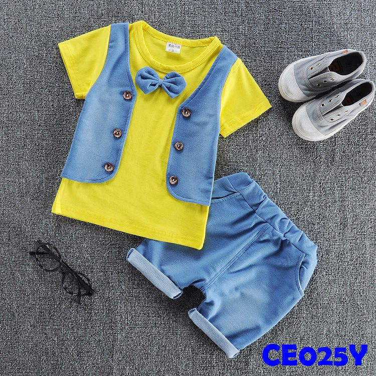 (CE025Y) Set- Vest Yellow