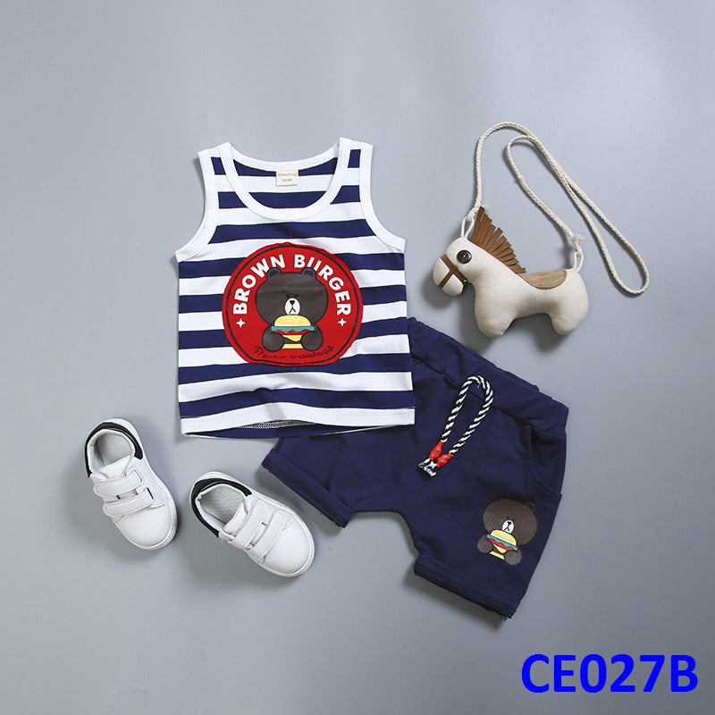 (CE027B) Set - Brown Burger Blue