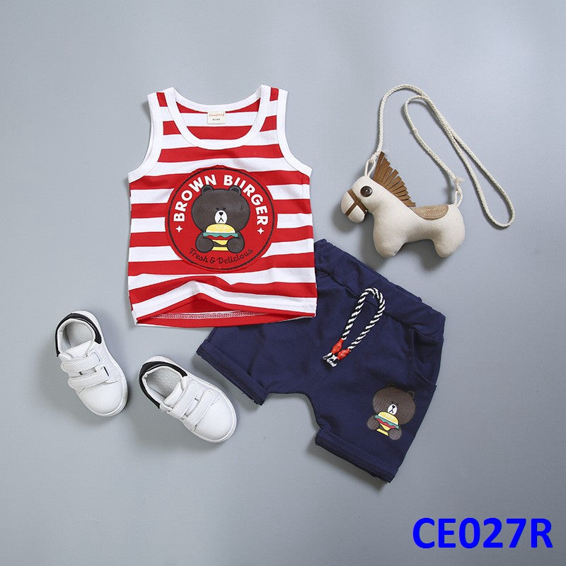 (CE027R) Set - Brown Burger Red