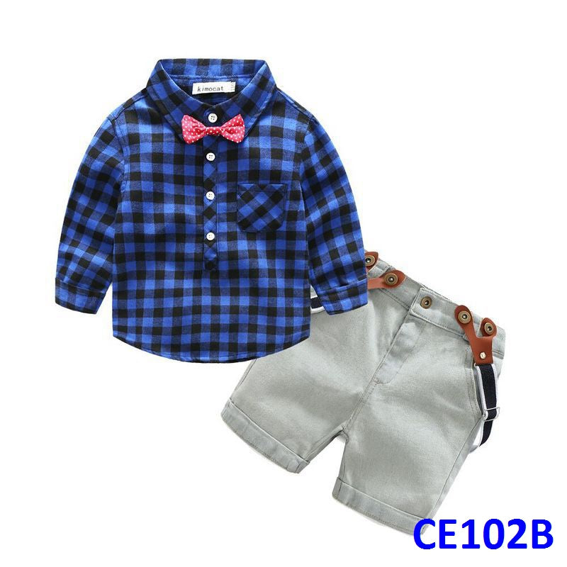 (CE102B) Gentleman Set - Long Sleeve Blue