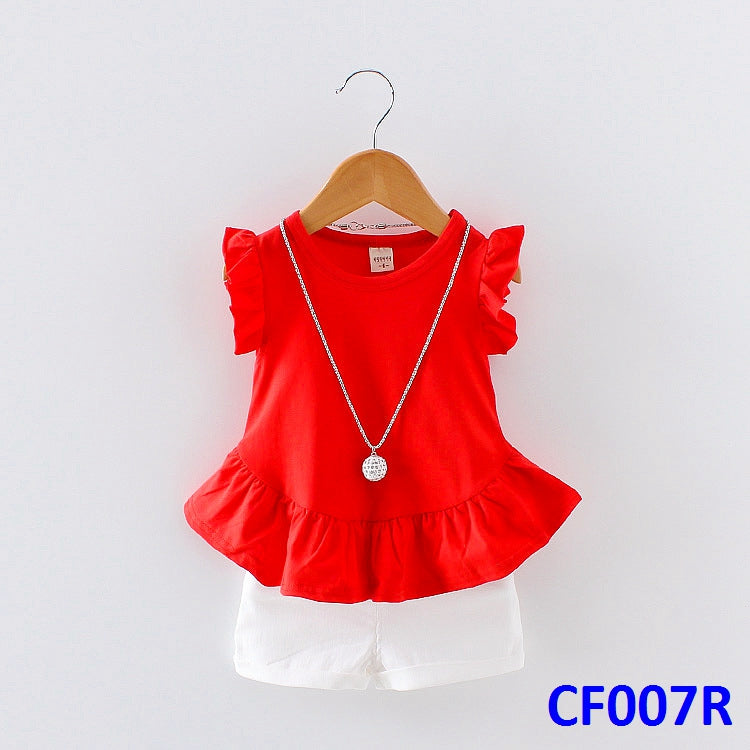 (CF007R) Girl Set - Red