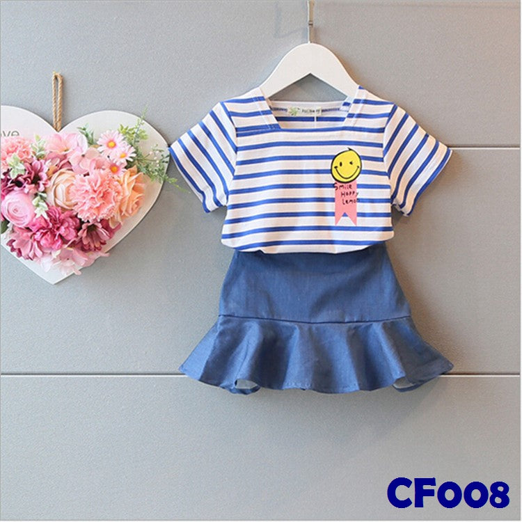 (CF008) Set - Stripes Blue